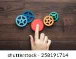 perfect solution concept.... | Shutterstock . vector #258191714