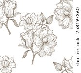 flower  seamless pattern can be ... | Shutterstock .eps vector #258197360