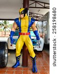 Small photo of AYUTTAYA,THAILAND - MARCH 04, 2015 : Wolverine model at Thung Bua Chom floating market