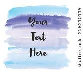 ombre blue watercolor vector... | Shutterstock .eps vector #258210119