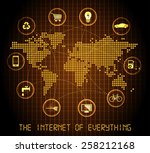 the internet of everything  ... | Shutterstock .eps vector #258212168