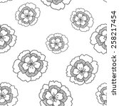 seamless floral pattern  | Shutterstock .eps vector #258217454