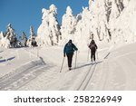 Two Cross Country Skiers With...