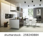 Kitchen Contemporary Style  3d...