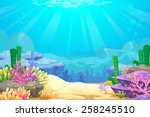 under the sea vector background | Shutterstock .eps vector #258245510