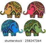 stylized fantasy patterned...