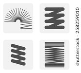 monochrome icon set with springs | Shutterstock .eps vector #258259010