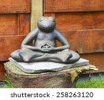 Stone Garden Frog Meditating...