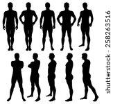 vector illustration of male... | Shutterstock .eps vector #258263516