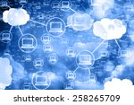 Stock photo cloud computing network abstract background 258265709
