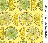 Yellow Seamless Vector Pattern...