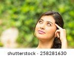 pretty young girl having an... | Shutterstock . vector #258281630