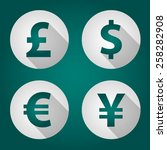 the currency signs of dollar ... | Shutterstock .eps vector #258282908