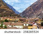 small town of ollantaytambo ... | Shutterstock . vector #258285524