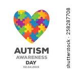 digitally generated autism... | Shutterstock .eps vector #258287708