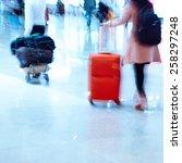 passenger walking at big city... | Shutterstock . vector #258297248