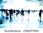abstract blur of passengers...   Shutterstock . vector #258297404