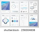 data visualization brochures... | Shutterstock .eps vector #258304838