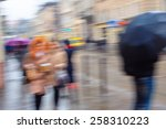 abstract blur of hurrying... | Shutterstock . vector #258310223