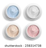 close up of  beauty cream or... | Shutterstock . vector #258314738