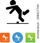 person tripping over an... | Shutterstock .eps vector #258317744