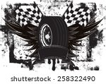 racing wings insignia a race... | Shutterstock .eps vector #258322490