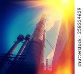 industrial supporting... | Shutterstock . vector #258324629
