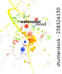 watercolor abstract vector... | Shutterstock .eps vector #258326150