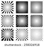 radial elements set. starburst...