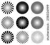 radial elements set. starburst... | Shutterstock .eps vector #258326999