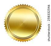 golden seal isolated on white... | Shutterstock . vector #258332546
