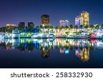 buildings and boats reflecting... | Shutterstock . vector #258332930