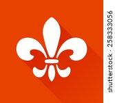 fleur de lis graphic logo... | Shutterstock .eps vector #258333056