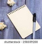 notebook | Shutterstock . vector #258339200