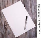 sheets of paper | Shutterstock . vector #258339239