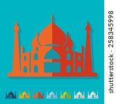 flat design. arabic palace   Shutterstock .eps vector #258345998