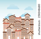 welcome neighborhood design ... | Shutterstock .eps vector #258348680