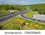 highway in the countryside.... | Shutterstock . vector #258350840
