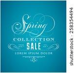 spring sale lettering | Shutterstock .eps vector #258354494