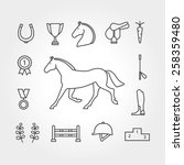 horse equipment icon set | Shutterstock .eps vector #258359480