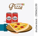 pizza design  vector... | Shutterstock .eps vector #258362150