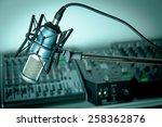 radio  recording studio  studio. | Shutterstock . vector #258362876