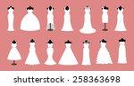 white wedding dresses icon... | Shutterstock .eps vector #258363698