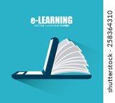 e learning design  vector... | Shutterstock .eps vector #258364310
