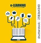 e learning design  vector... | Shutterstock .eps vector #258364340