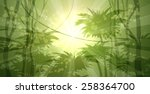 wild forest landscape drawn in... | Shutterstock .eps vector #258364700