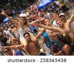 street carnival parade in rio... | Shutterstock . vector #258365438