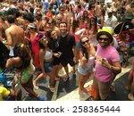 Street Carnival Parade In Rio...