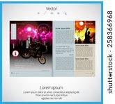 layout magazine. editable... | Shutterstock .eps vector #258366968