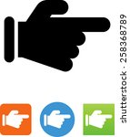 finger pointing icon | Shutterstock .eps vector #258368789